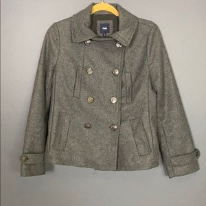 GAP I Dark Gray Wool Peacoat Size XS